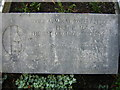 TQ3369 : All Saints Church, Upper Norwood: grave of Admiral Robert Fitzroy (detail) by Christopher Hilton