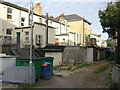 TQ3268 : Access road behind shops, north side of Thornton Heath High Street by Christopher Hilton