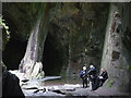 NY3102 : Abseil group in the Cathedral Quarry : Week 37
