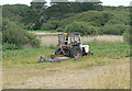 SV9210 : Conservation Mowing at Porth Hellick, St Mary's, Scilly by John Rostron