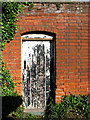TM2972 : Doorway, Church Walk, Laxfield by Evelyn Simak