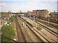 TQ2876 : Queenstown Road station, Battersea, from a train heading out of Victoria by Christopher Hilton