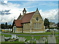 TQ5382 : Chapel, Rainham Cemetery by Robin Webster