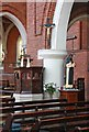 TQ3383 : St Chad, Dunloe Street, E2 - Pulpit by John Salmon