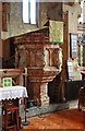 TQ2885 : St Martin, Vicars Road, Gospel Oak - Pulpit by John Salmon