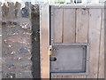 SX9372 : Detail: Gate No.10 locked open by Robin Stott