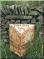 SK0069 : Old milepost by the A54  by Robin Stott