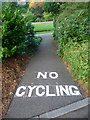 SZ0891 : Bournemouth: newly painted No cycling markings by Chris Downer
