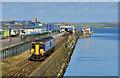 NX0661 : Train leaving Stranraer Harbour. : Week 39