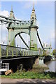 TQ2278 : Hammersmith Bridge by Philip Halling