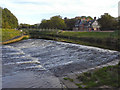 SJ8390 : River Mersey, Northenden Weir by David Dixon