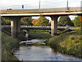 SJ8390 : River Mersey, Northenden Bridge by David Dixon