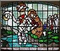 TQ3383 : St John the Baptist, Crondall Street, Hoxton - Stained glass window : Week 39