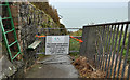 J4893 : Closed Blackhead path, Whitehead by Albert Bridge