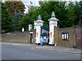 TQ1879 : Gunnersbury Park north gate by Thomas Nugent