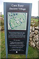 SW4029 : Carn Euny, information sign by hayley green