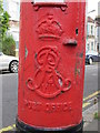 TQ2382 : Edward VII postbox, Wakeman Road / Rainham Road, NW10 - royal cipher by Mike Quinn