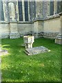 SU3645 : Ancient font, now outside St Mary's in Andover by Basher Eyre