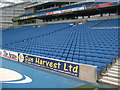 TQ3408 : Seating in West Stand - Amex Stadium by Paul Gillett