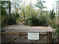 SK6733 : Entrance to Fishpond Wood by Alan Murray-Rust