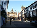 SO5174 : The top end of Broad Street, Ludlow by Jeremy Bolwell