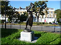 TQ3076 : Sculpture of the Bronze Woman, Stockwell Memorial Gardens by Ian Yarham