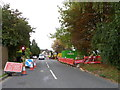 SU0625 : Roadworks, Bishopstone by Miss Steel