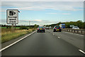 TL3664 : A14 average speed check sign by Robin Webster
