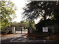 TQ4160 : Former entrance to Biggin Hill Barracks  by David Anstiss