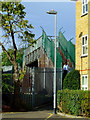 TQ2078 : Footbridge at Hardwicke Road by Thomas Nugent