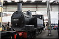 SK4175 : Tank steam engine in Barrow Hill roundhouse by Roger Templeman