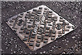 J0857 : Peter Savage CATV access cover, Lurgan by Albert Bridge