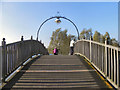 SE5901 : Wooden Bridge at Lakeside by David Dixon