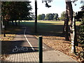 TQ3670 : National Cycle Route 21 enters Cator Park by David Anstiss