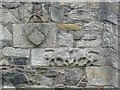 NS3634 : Carvings on Dundonald Castle by Humphrey Bolton