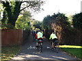 TQ3669 : National Cycle Network Route 21 leaves Cator Park by David Anstiss