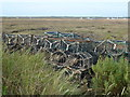TF7944 : Crab pots near Brancaster Staithe by Richard Humphrey