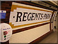 TQ2882 : Northbound platform, Regents Park Underground Station by Christopher Hilton