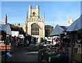 TL4458 : Cambridge Market and Great St Mary's church by John Sutton