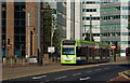 TQ3266 : Tram in Wellesley Road, Croydon by Peter Trimming