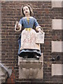 TQ3181 : Bluecoat Girl statue, Wren House, Hatton Garden, EC1 by Mike Quinn