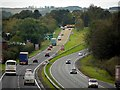 NY9465 : A69 approaching the Hexham roundabout by Andrew Curtis