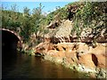 SK7090 : Sandstone at Drakeholes Tunnel's southern portal by Christine Johnstone