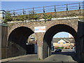 TQ3677 : Railway bridge, Arklow Road, Deptford by Malc McDonald