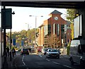 TQ3161 : Purley from beneath the railway bridge by Derek Harper