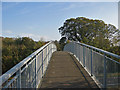 SE7772 : Footbridge over the Malton Bypass by Pauline Eccles
