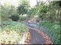 TQ2882 : Park Crescent: path leading to tunnel under Marylebone Road by Christopher Hilton
