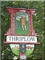 TL4346 : Thriplow Village Sign by Finlay Cox