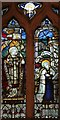 TL9979 : All Saints, Hopton - Stained glass window by John Salmon