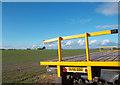 SU4689 : Big Field, Yellow Trailer by Des Blenkinsopp